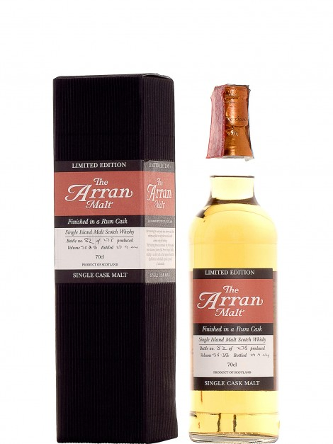 Arran Rum Finish Bottled 2004