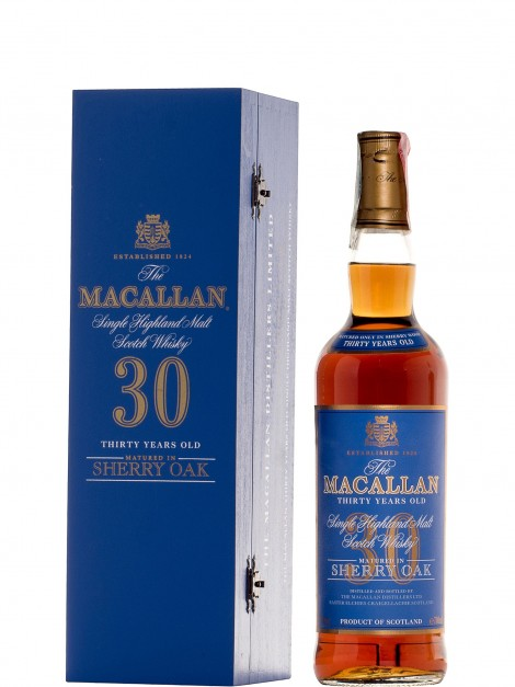 The Macallan 30 Year Old Blue Label Sherry Oak