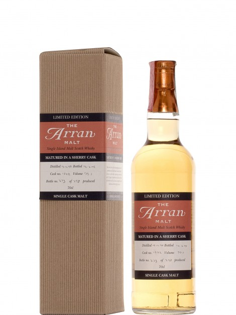 Arran 1998 Sherry Sherry Cask Bottled 2005